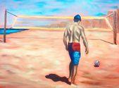 The Practice Oil On Canvas Board 11 X 14 X 1 4 Beach Volleyball Oil Painting Oil Painting Oil On Canvas Painting