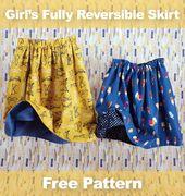 002b02cc297213093f1286a0a0fbb641 - Free Pattern: Girls' Fully Reversible Skirt