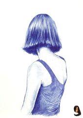 """#drawing ideas pencil sketch #Porträt Portrait 239 """"Portrait 239"""" von Dario Moschetta. Tuschezeichnung auf Papier, Thema: Menschen und Porträts, Gra…"""