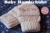 Kostenlose Anleitung für Babyhandschuhe. DIY | Babyhandschuhe stricken   – Baby