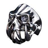 Diamante Ojo Diablo Cráneo Colmillo   – Gothic accessoriess