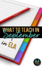 What to show through the month of September in Center and Excessive College ELA #ELACu…