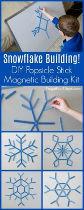 Make a DIY Popsicle Stick Snowflake Building Kit – Frugal Fun For Boys and Girls