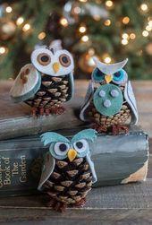 Weihnachtsdekoration basteln: 60 Ideen mit Fotos und Anleitungen   – Tannenzapfen