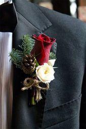 Hochzeitsfarben »24 auffällige rote Hochzeitsideen für den Winter …   – wedding bouquets diy