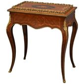 French Rosewood and Inlaid Jardinière Plant Stand