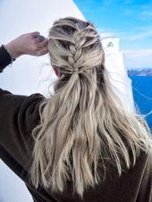 Halfup Diagonal French Braid mit Akzentknoten - Die faszinierende Dattelfrisur - braids.life