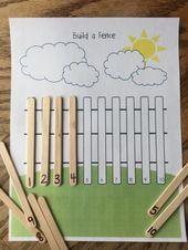 Bauen Sie einen Zaun Mathematik lernen