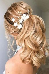 53 Best Ponytail Hairstyles  Low and High Ponytails  To Inspire , hairstyles #weddinghair #ponytails #wedding #hairstyles #p
