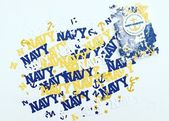 USNA Confetti- Navy Graduation- Anchor Confetti- Navy and Gold, Commissioning Week, Tailgate