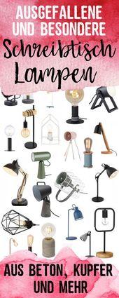 Besondere Schreibtischlampen und Nachttischlampen — hochseiltraum –     Besond…