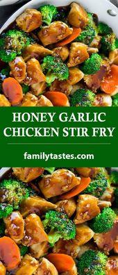 HONEY GARLIC CHICKEN STIR FRY – Family Tastes