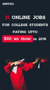 21 Online-Jobs für Studenten, die 2019 bis zu 30 US-Dollar pro Stunde bezahlen