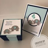 Histoires de timbres, Bébé, Naissance, Bricolage, Carte, Emballage, Éléphantastique, Stampin & …   – Stampin Up Baby/Geburt/Taufe