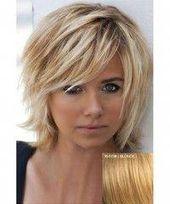 Elegant Fluffy Natural Wavy Side Bang Short Real Human Hair Capless Daily Wig Women(18/613#) | Wish