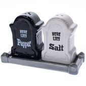 Steinzeug Grabstein Salz- und Pfefferstreuer Set