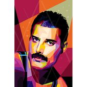 Freddie o1 FRAMED ART personalized by you gift for music lovers pop art canvas gift for men for and gift idea for musicians canvas print