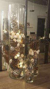 Dollar Store Centres de table de Noël – Bougeoirs en verre de vin   – Stuff I want to make
