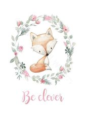 Boho Woodland Animals Nursery Decor Prints Set, Se…