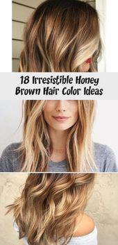 18 Irresistible Honey Brown Hair Color Ideas
