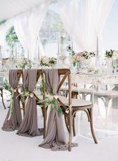 45 Gorgeous Wedding Decoration for White Wedding Awimina Blog