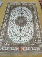 4×6 FT (122cm x 184cm) New Unique Handmade Authentic Turkish 100% SILK Carpet, 500 knots per square