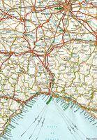 Cartina Stradale Liguria Piemonte.Lombardia E Piemonte Italia Foglio 1 Tci Carta Stradale 1 800 000 1975 Mappe Foglie