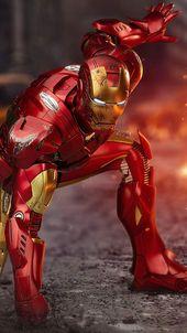 Iron Man bereit für den Kampf iPhone Hintergrundbild 4K