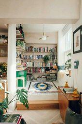 Die perfekte Vintage-Bibliothek für Ihr Zuhause, #Home #Library #Perfect #trendhomedecorinspiratio …