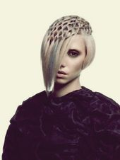 An extraordinary weaving technique that puts the hair like a handkerchief on the top …, #on #outside …