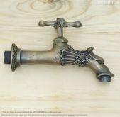 FLASH SALE – 6.02″ inches Vintage Antique Brass Bathroom Sink faucets Bathtub faucets Kitchen faucet