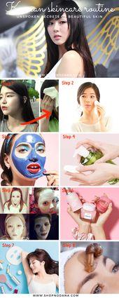 Korean skincare routine-unspoken secrets of Beautiful Skin