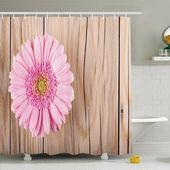 Gerbera-Gänseblümchen Ambesonne Rustic Home auf Eichen-drastischem südamerikanischem Duschvorhang-Satz   – Products
