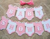 Bunting Flags Banners Garland Onesies BABY SHOWER …