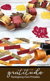 Dankbarkeitskette – Eine druckbare Erntedank-Aktivität für Familien   Carla Schauer D … – Craft Ideas