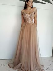 Shine Long Off the Shoulder Champagne Ball Evening Dress with Rhinestones    – Neue kleider
