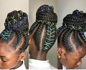 23 Most Beautiful Braided Hairstyles With Bun for Your Little Black Girls