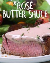 Salsa de mantequilla Ros  u00e9: esta salsa de vino con mantequilla adquiere su tono rosado de ros  u00e …  – makeup