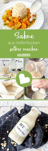 Oat cream itself is made from 3 ingredients – simple and vegan   – Vegan