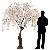 6ft Drooping Cherry Blossom Tree Floor Or Grand Centerpiece 10 Interchangeable Branches Blush Light Pink In 2021 Blossom Trees Cherry Blossom Tree Fake Hydrangeas