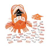 Orange Graduation Table Decorating Kit
