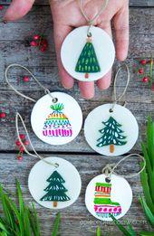 Decorating Homemade Clay & Salt Dough Christmas Ornaments