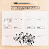Bildergebnis für minimalistische Bullet-Journal-Spreads