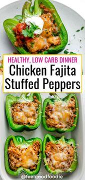 Gefüllte Hühnchenpaprikaschoten   – Low Carb & Keto Recipes