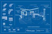 Illustrator Workspace blueprint - millwork