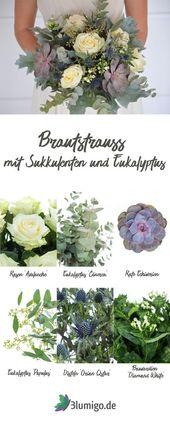 Binden Sie selbst den blauäugigen Brautstrauß - DIY Wedding Series Part 1