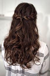 Prom Hair #WeddingUpdos – Prom Frisuren – #Frisure…