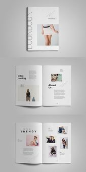 Adobe InDesign Lookbook Template #portfolio #lookbook # brochure # template #indes …   – Magazin
