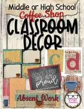 Center or Excessive College Classroom Decor – Espresso Store Theme