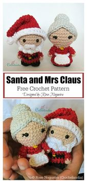 Christmas Ragdoll Santa Couple Free Crochet Pattern